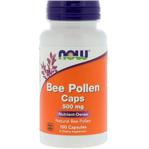 Now Foods, Bee Pollen Caps, 500 mg, 100 Capsules فوائد