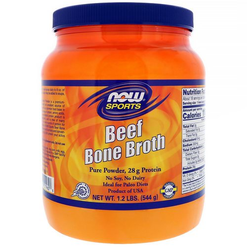 Now Foods, Beef Bone Broth, 1.2 lbs (544 g) فوائد