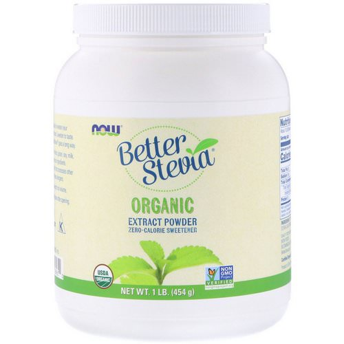 Now Foods, Better Stevia, Organic Extract Powder, 1 lb (454 g) فوائد