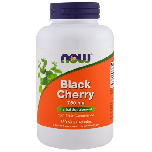 Now Foods, Black Cherry Fruit, 750 mg, 180 Veg Capsules فوائد