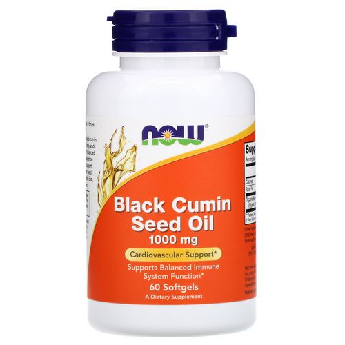 Now Foods, Black Cumin Seed Oil, 1,000 mg, 60 Softgels فوائد