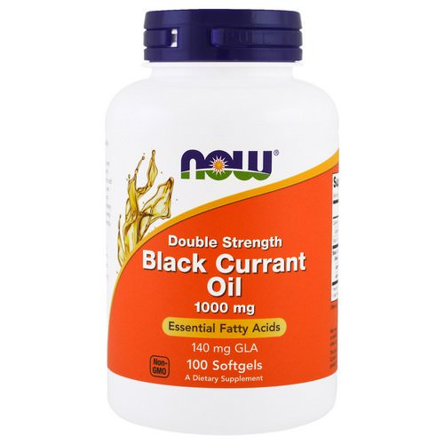 Now Foods, Black Currant Oil, 1,000 mg, 100 Softgels فوائد