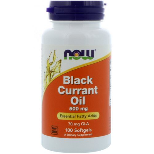 Now Foods, Black Currant Oil, 500 mg, 100 Softgels فوائد