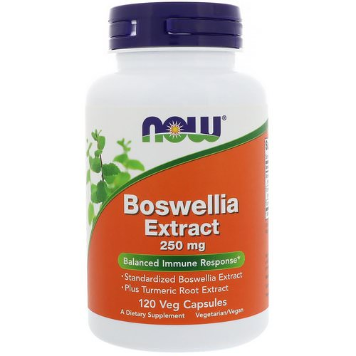 Now Foods, Boswellia Extract, 250 mg, 120 Veg Capsules فوائد