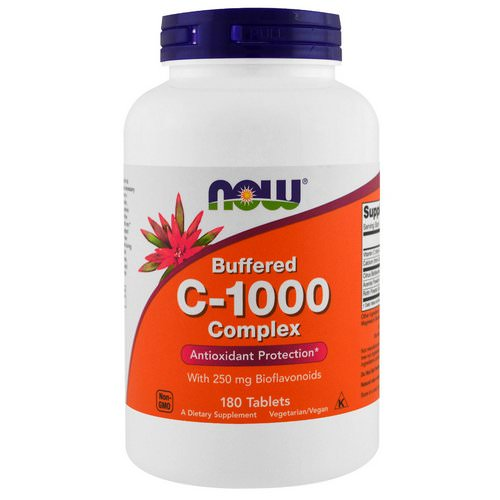 Now Foods, Buffered C-1000 Complex, 180 Tablets فوائد
