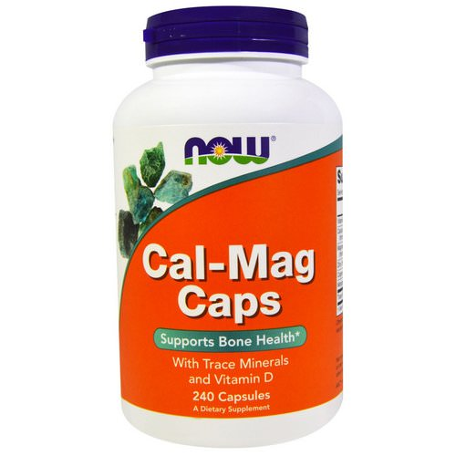 Now Foods, Cal-Mag Caps, 240 Capsules فوائد