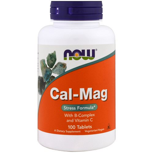 Now Foods, Cal-Mag, Stress Formula, 100 Tablets فوائد