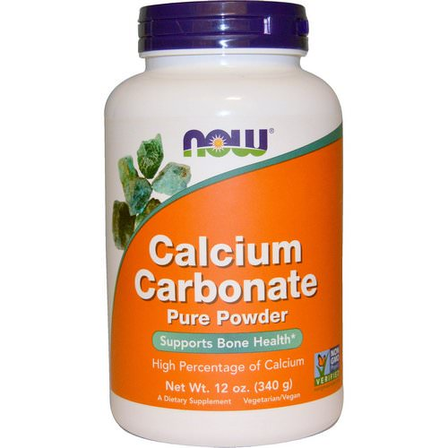 Now Foods, Calcium Carbonate Powder, 12 oz (340 g) فوائد