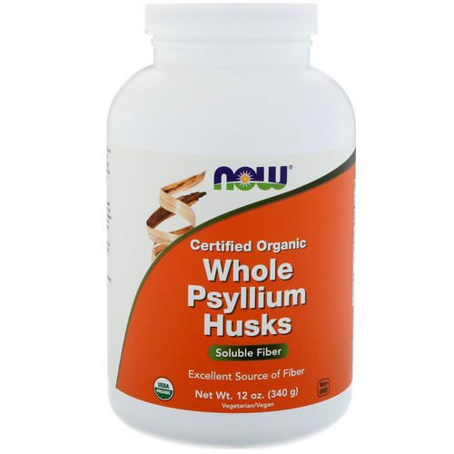 Now Foods, Certifed Organic Whole Psyllium Husks, 12 oz (340 g) فوائد