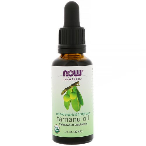 Now Foods, Certified Organic & 100% Pure, Tamanu Oil, 1 fl oz (30 ml) فوائد
