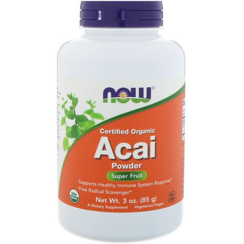 Now Foods, Certified Organic Acai Powder, 3 oz (85 g) فوائد