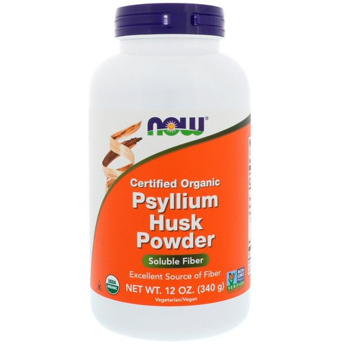 Now Foods, Certified Organic, Psyllium Husk Powder, 12 oz (340 g) فوائد