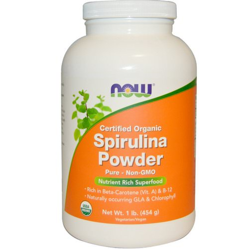 Now Foods, Certified Organic Spirulina Powder, 1 lb (454 g) فوائد