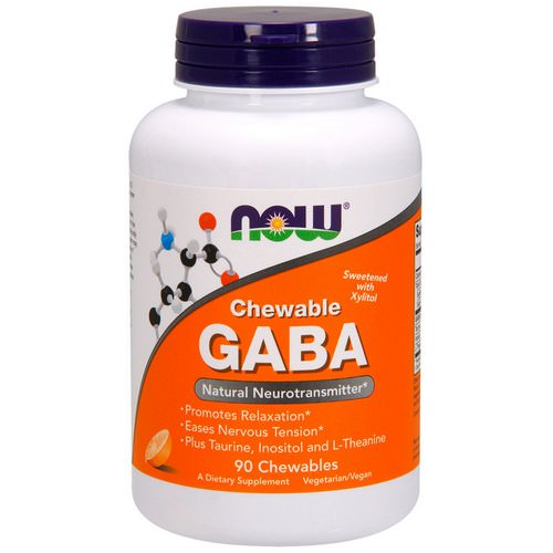Now Foods, Chewable GABA, Natural Orange Flavor, 90 Chewables فوائد