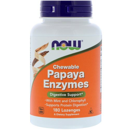 Now Foods, Chewable Papaya Enzymes, 180 Lozenges فوائد