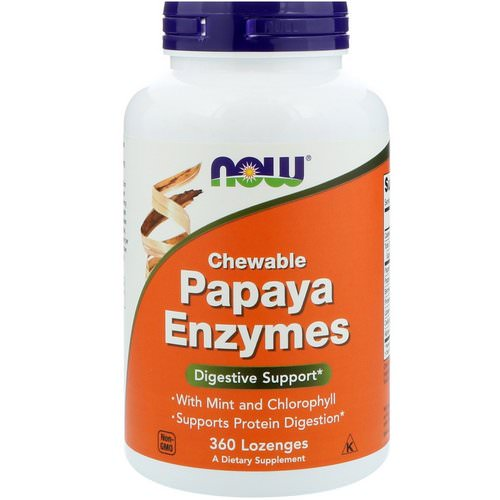 Now Foods, Chewable Papaya Enzymes, 360 Lozenges فوائد