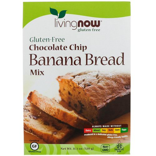 Now Foods, Chocolate Chip Banana Bread Mix, Gluten-Free, 11.3 oz (320 g) فوائد