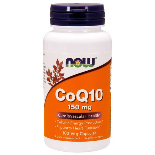 Now Foods, CoQ10, 150 mg, 100 Veg Capsules فوائد