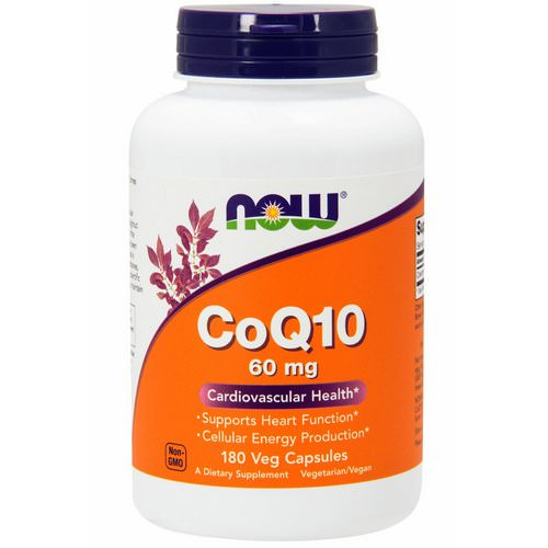 Now Foods, CoQ10, 60 mg, 180 Veg Capsules فوائد