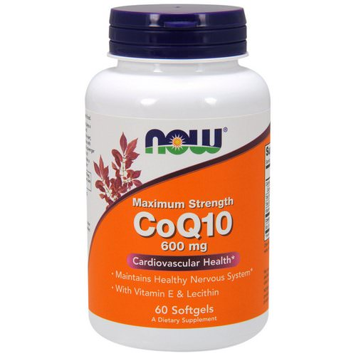 Now Foods, CoQ10, 600 mg, 60 Softgels فوائد