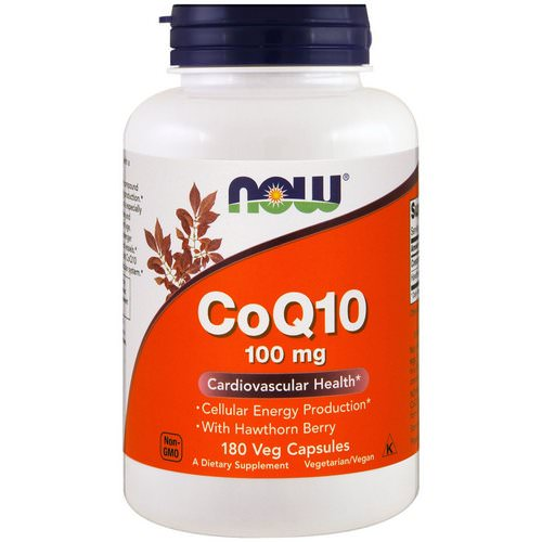 Now Foods, CoQ10, With Hawthorn Berry, 100 mg, 180 Veggie Capsules فوائد