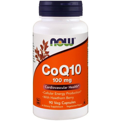Now Foods, CoQ10, With Hawthorn Berry, 100 mg, 90 Veg Capsules فوائد