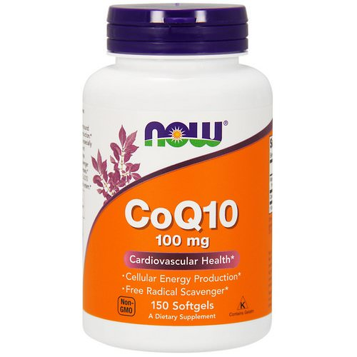 Now Foods, CoQ10, With Vitamin E, 100 mg, 150 Softgels فوائد