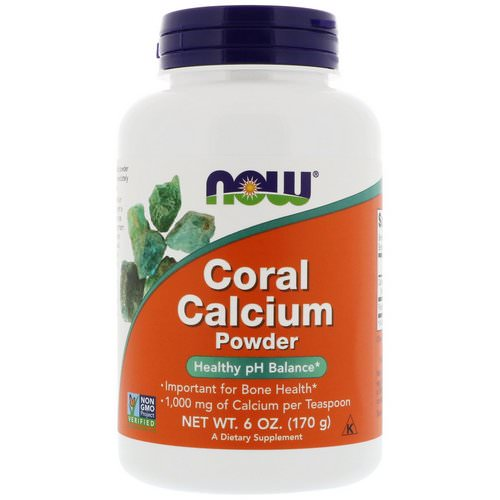 Now Foods, Coral Calcium Powder, 6 oz (170 g) فوائد