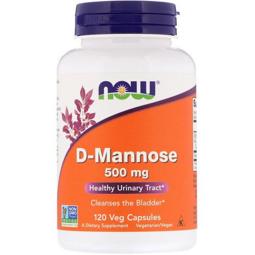 Now Foods, D-Mannose, 500 mg, 120 Veg Capsules فوائد