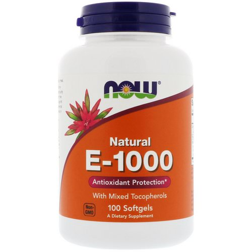 Now Foods, E-1000, 100 Softgels فوائد