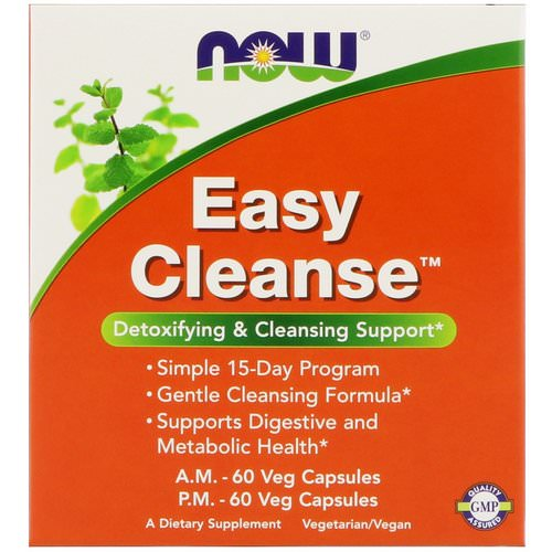 Now Foods, Easy Cleanse, 2 Bottles, 60 Veg Capsules Each فوائد