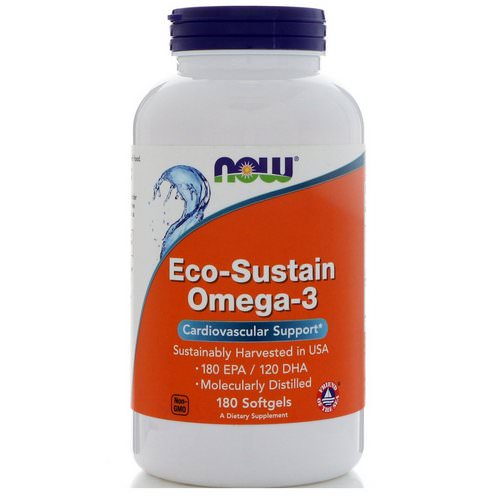Now Foods, Eco-Sustain Omega-3, 180 Softgels فوائد