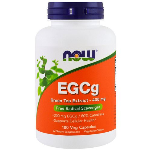 Now Foods, EGCg, Green Tea Extract, 400 mg, 180 Veg Capsules فوائد
