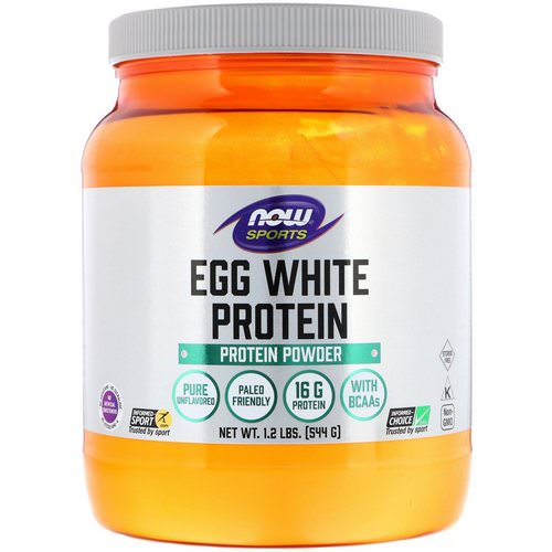 Now Foods, Egg White Protein, Protein Powder, 1.2 lbs (544 g) فوائد