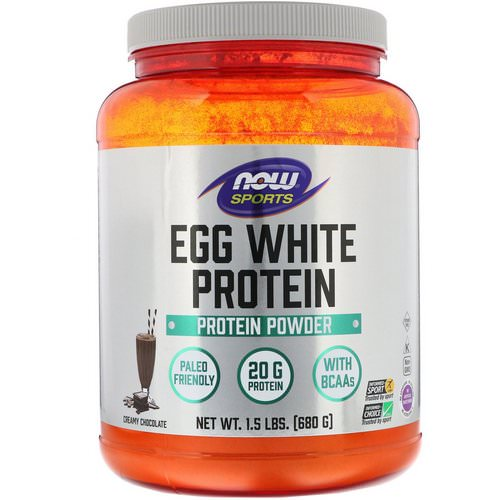 Now Foods, Eggwhite Protein, Creamy Chocolate, 1.5 lbs (680 g) فوائد