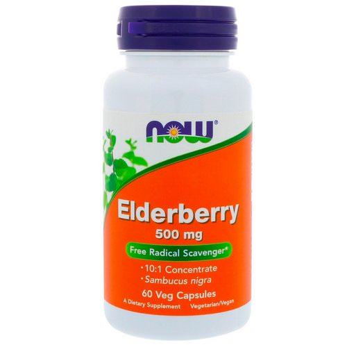 Now Foods, Elderberry, 500 mg, 60 Veg Capsules فوائد