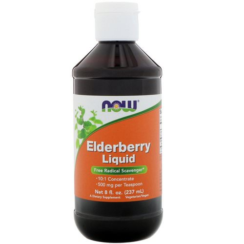 Now Foods, Elderberry Liquid, 8 fl oz (237 ml) فوائد