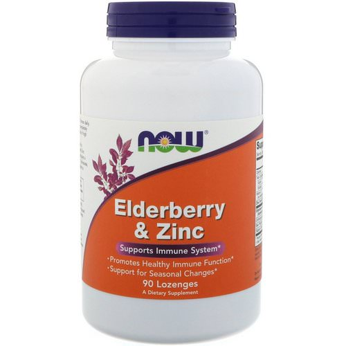 Now Foods, Elderberry & Zinc, 90 Lozenges فوائد