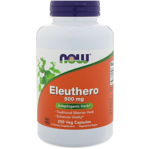 Now Foods, Eleuthero, 500 mg, 250 Veg Capsules فوائد