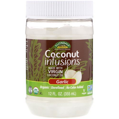 Now Foods, Ellyndale Naturals, Coconut Infusions, Garlic Flavor, 12 fl oz (355 ml) فوائد