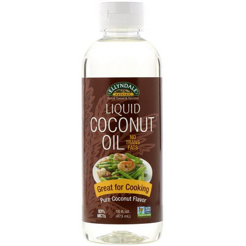 Now Foods, Ellyndale Naturals, Liquid Coconut Oil, Pure Coconut Flavor, 16 fl oz (473 ml) فوائد