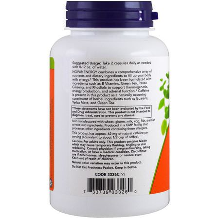 Now Foods Energy Formulas Condition Specific Formulas - الطاقة, المكملات الغذائية
