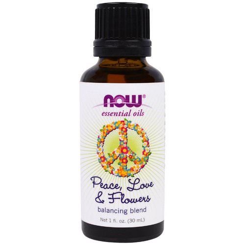 Now Foods, Essential Oils, Peace, Love & Flowers, Balancing Blend, 1 fl. oz (30 ml) فوائد