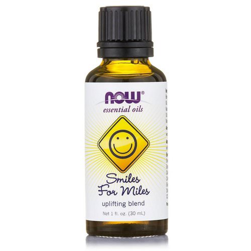 Now Foods, Essential Oils, Smiles for Miles, Uplifting Blend, 1 fl oz (30 ml) فوائد