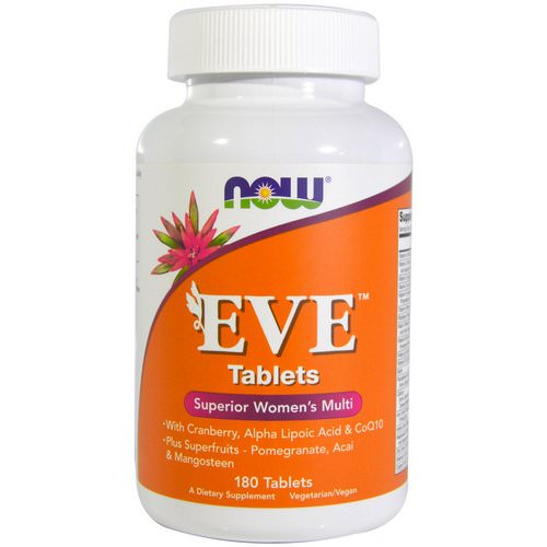 Now Foods, EVE, Superior Women's Multi, 180 Tablets فوائد