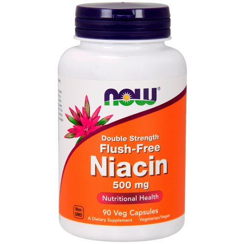 Now Foods, Flush-Free Niacin, Double Strength, 500 mg, 90 Veg Capsules فوائد