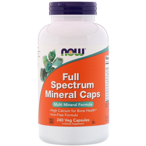 Now Foods, Full Spectrum Minerals Caps, 240 Veg Capsules فوائد