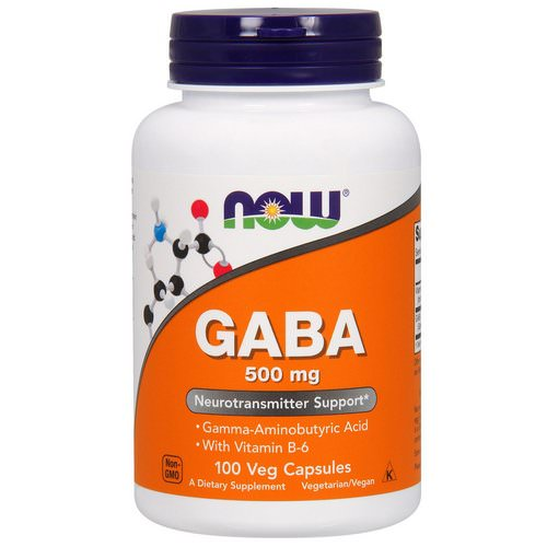 Now Foods, GABA, 500 mg, 100 Veg Capsules فوائد