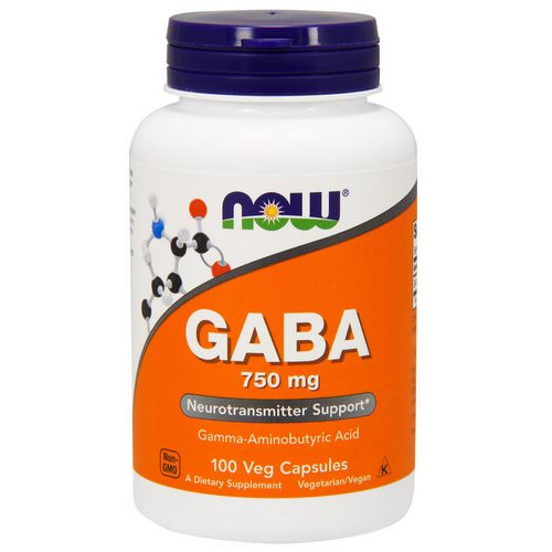 Now Foods, GABA, 750 mg, 100 Veg Capsules فوائد
