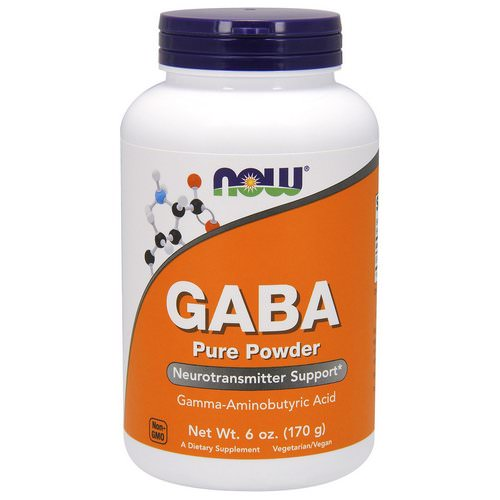 Now Foods, GABA, Pure Powder, 6 oz (170 g) فوائد